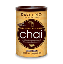 David Rio Giraffe Decaf Tea Chai, 14 oz