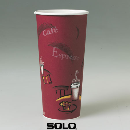 Solo Bistro Paper Coffee Cups 24 Oz Case Of 500