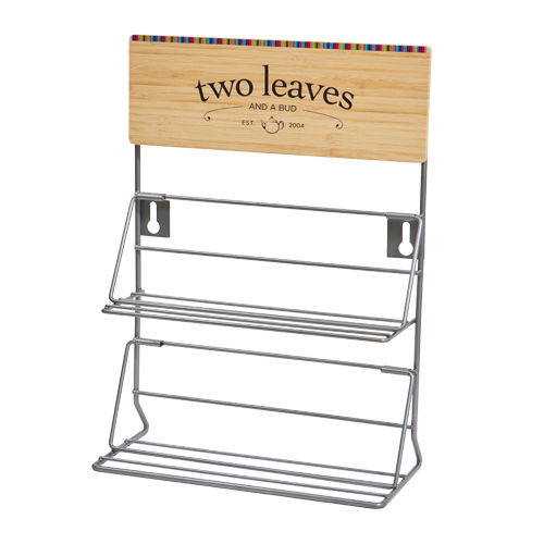 Two Leaves and a Bud Counter Top Rack for 6 Boxes of Tea