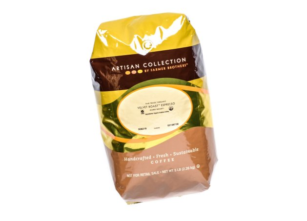 Farmer Brothers Velvet Espresso, 5 Lb Whole Bean Coffee - Organic - Fair Trade