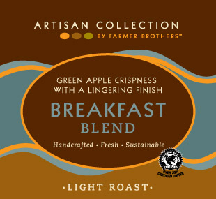 Farmer Brothers Breakfast Blend Coffee Pot Packs, 48/3 oz Bags, Artisan Collection