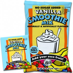 Big Train No Sugar Added Vanilla SMOOTHIE Mix- Single Serve