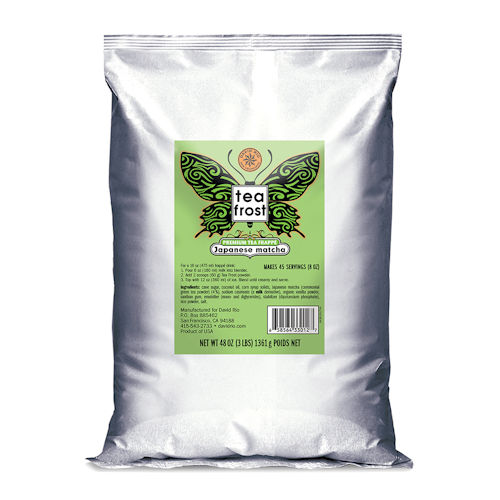 David Rio Tea Frost Japanese Matcha Premium Tea Frappe, 3 lb bag
