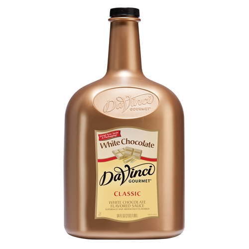 Da Vinci White Chocolate Chocolate Sauce, Gallon