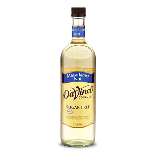 Da Vinci SUGAR FREE Macadamia Nut Syrup with Splenda, 750 ml