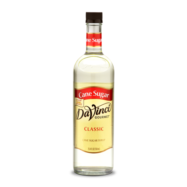 Da Vinci Cane Sugar Syrup, 750 ml Plastic Bottle