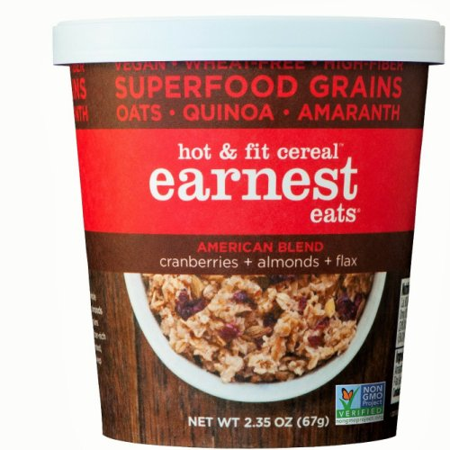 Earnest Eats American Blend Hot and Fit Cereal, 2.35 Oz-Pk of 12