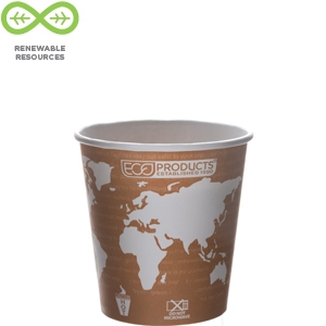 Eco Products 10 oz World Art Hot Cup - Compostable- EP-BHC10-WA, Sleeve of 50