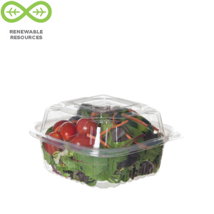 Eco Products Renewable & Compostable Clear Clamshells -6 inch, 240