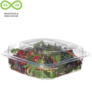Eco Products Renewable & Compostable Clear Clamshells- 8 inch-EP-LC81, Case of 160