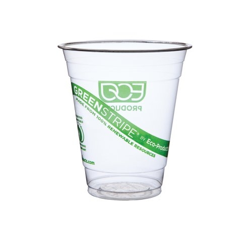 Eco-Products 12 oz GreenStripe Cold Cup- Case of 1,000