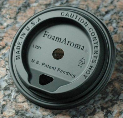 FoamAroma Black Lid fo 12 - 24 oz cups - Case of 1,000 lids