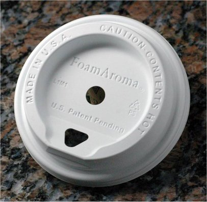 FoamAroma White Lid fo 12 - 24 oz cups - Case of 1,000 lids