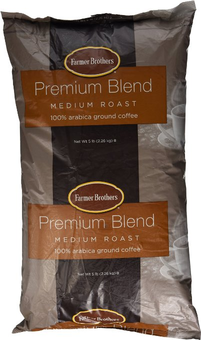 Farmer Brothers 100% Arabica Coffee - Ground, Medium Roast , 5 Lb. Bag