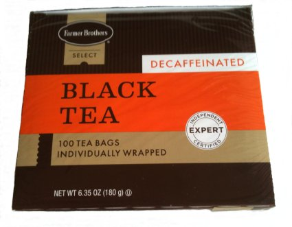 Farmer Brothers Decaf Black Tea Bags (Orange Pekoe & Pekoe), 100 count