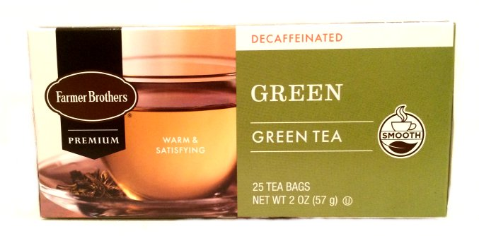 Farmer Brothers Green Tea, Decaf, 25 bags
