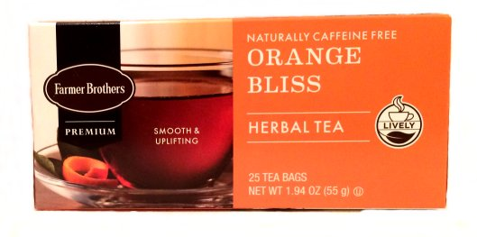 Farmer Brothers Orange Bliss Herbal Tea, 25 bags