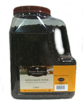 Farmer Brothers Black Pepper - Whole, 6 lb 4 Oz
