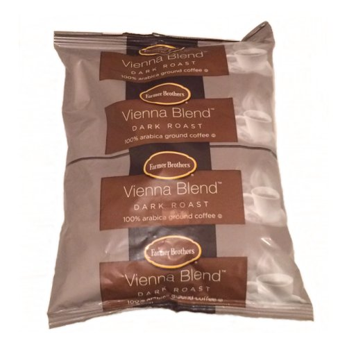 Farmer Brothers 100% Arabica Coffee, Dark Roast-Vienna Blend, 1 lb Bag