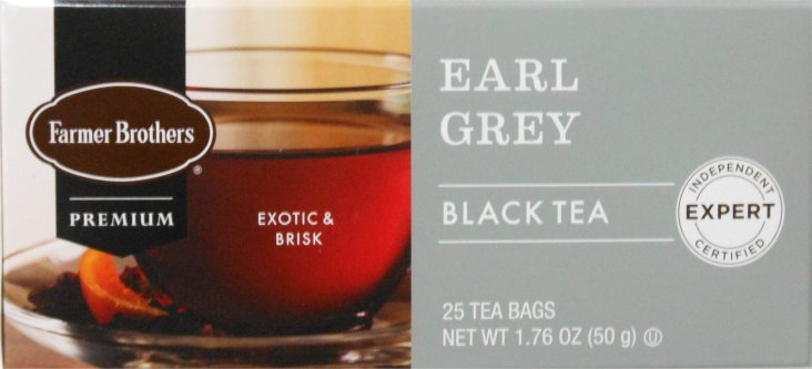Farmer Brothers Earl Grey Tea, 25 bags (Black Tea)