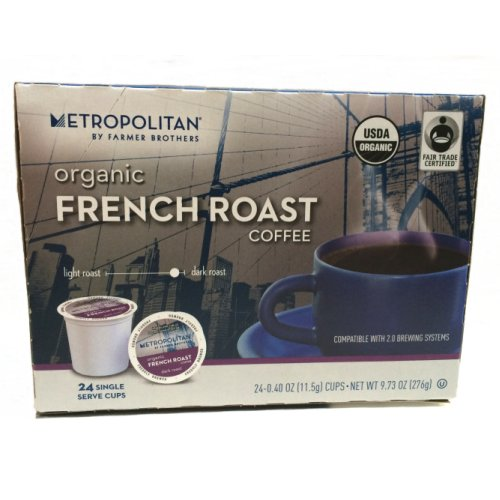 Farmer Brothers Organic French Roast Coffee - 24 Single Serve Pods
