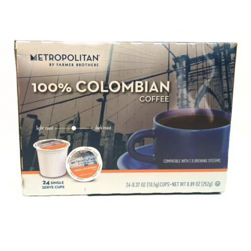 Farmer Brothers 100% Colombian Coffee - 24 Single Serve Pods