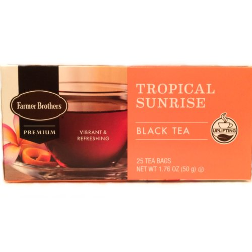 Farmer Brothers Tropical Sunrise Black Tea, 25 bags
