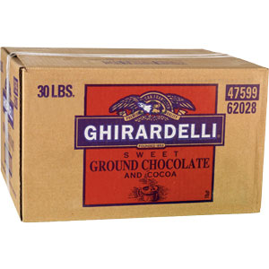 Ghirardelli Sweet Ground Chocolate and Cocoa Powder, 30 lb Box