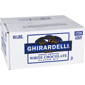 Ghirardelli Sweet Ground White Chocolate & Cocoa Powder, 10 lb Box
