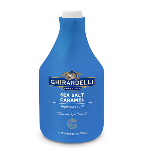 Ghirardelli Sea Salt Caramel Sauce, Net wt. 89.4 oz. (64 fl. oz.) Bottle