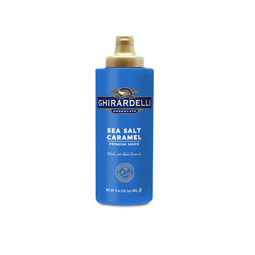 Ghirardelli Sea Salt Caramel Sauce, 17 oz Squeeze Bottle
