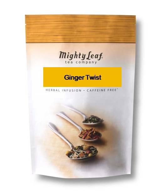 Mighty Leaf Ginger Twist Tea, 1 Lb Loose Leaf Bag
