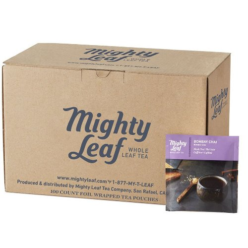 Mighty Leaf Bombay Chai Tea, 100 Tea Pouches