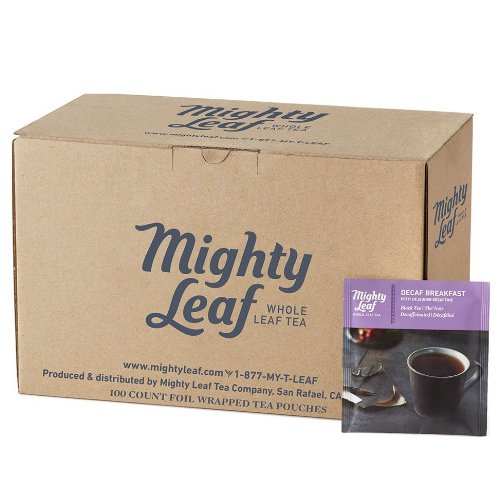 Mighty Leaf Decaf Breakfast Tea, 100 Tea Pouches