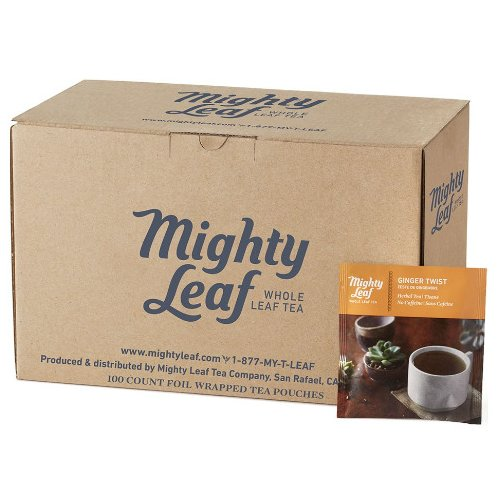 Mighty Leaf Ginger Twist Tea, 100 Tea Pouches