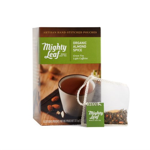 Mighty Leaf Organic Almond Spice Green Tea, 15 Tea Pouches