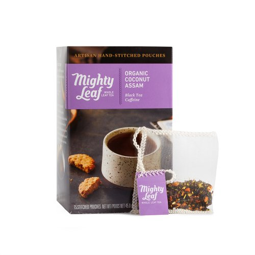 Mighty Leaf Organic Coconut Assam Tea, 15 Tea Pouches