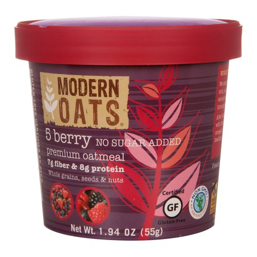 Modern Oats All Natural Oatmeal, 5 Berry (No Sugar Added), 12 Count