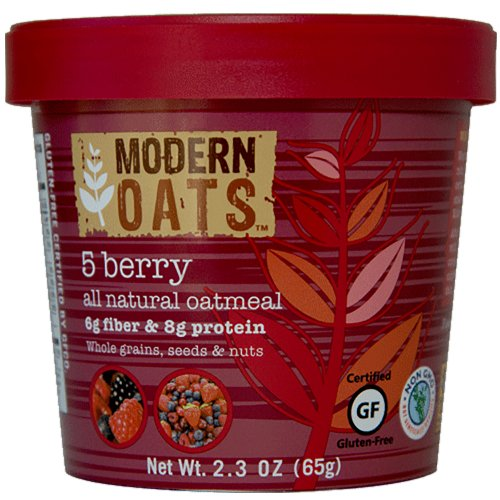 Modern Oats All Natural Oatmeal, 5 Berry, 12 Count