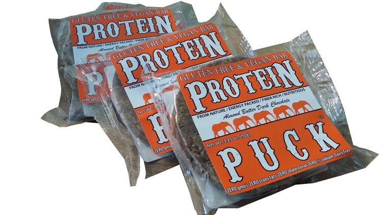 Protein Puck Bar, Dark Chocolate Almond- 16 count