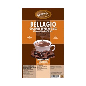 Caffe D'Amore Bellagio Natural Sweet Ground Chocolate - 3 lb Bag
