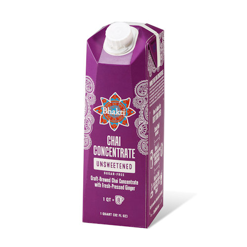 Bhakti Chai Unsweetened Chai Concentrate, 32 oz