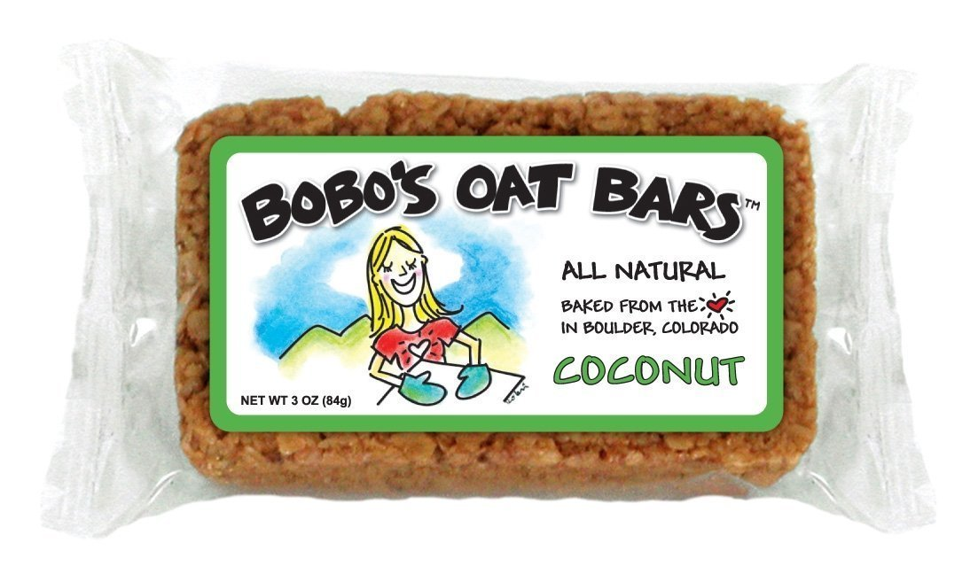 Bobo's Oat Bars All Natural, Coconut, 3-Ounce Packages (Pack of 12)