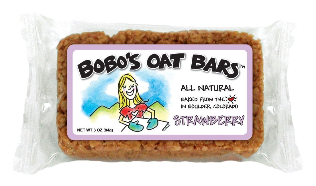 Bobo's Oat Bars All Natural, Strawberry, 3-Ounce Packages (Pack of 12)