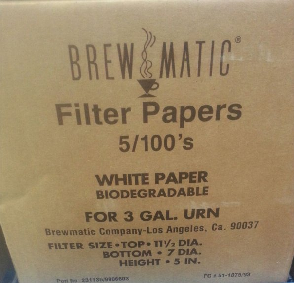 Brew Rite 3 Gallon Filters, 500 count Case