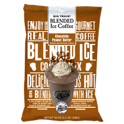 Big Train CHOCOLATE PEANUT BUTTER Blended Iced Coffee -3.5 Lb Bag