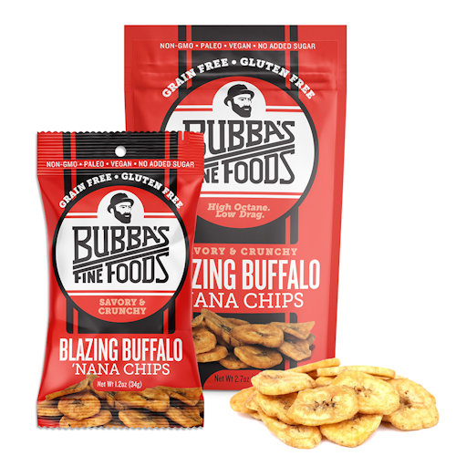 Bubba's Fine Foods Blazing Nana Chips, Case of 8 Bags (2.7 oz ea)
