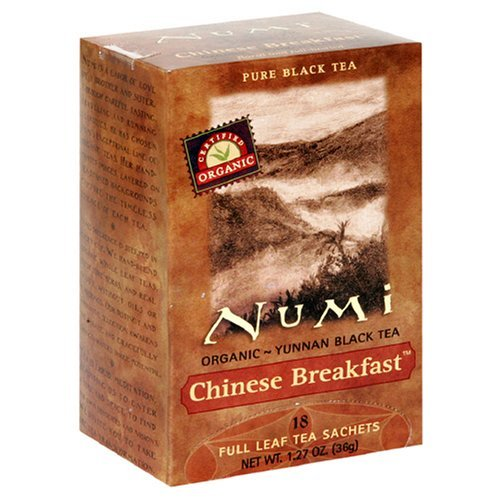Numi Chinese Breakfast - Yunan Black Tea, 100 Tea Bags
