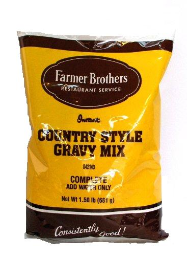 Farmer Brothers Instant Country Gravy Mix (Country Style), 1.50 lb Bag