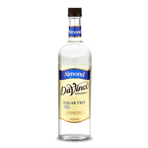 Da Vinci SUGAR FREE Almond Syrup with Splenda, 750 ml